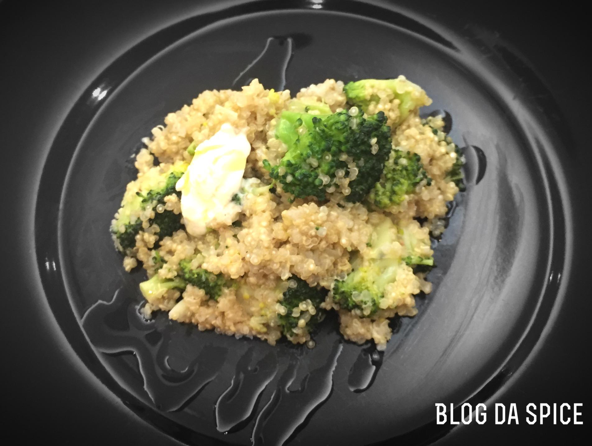 Quinoa com brócolos e mascarpone - Blog da Spice