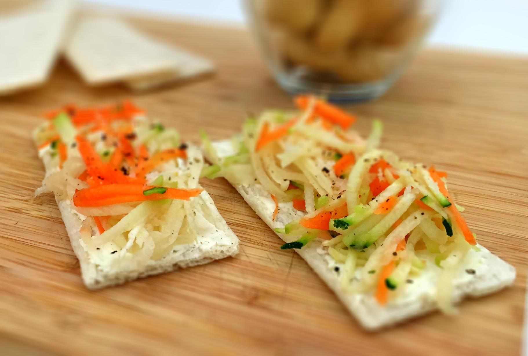 Tostas de arroz com mascarpone e vegetais - Blog da Spice