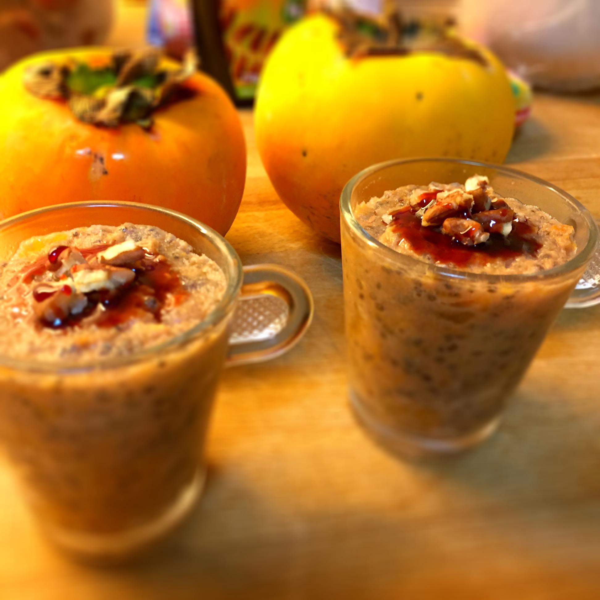 Pudins de chia com dióspiros e manteiga de amêndoa - Blog da Spice