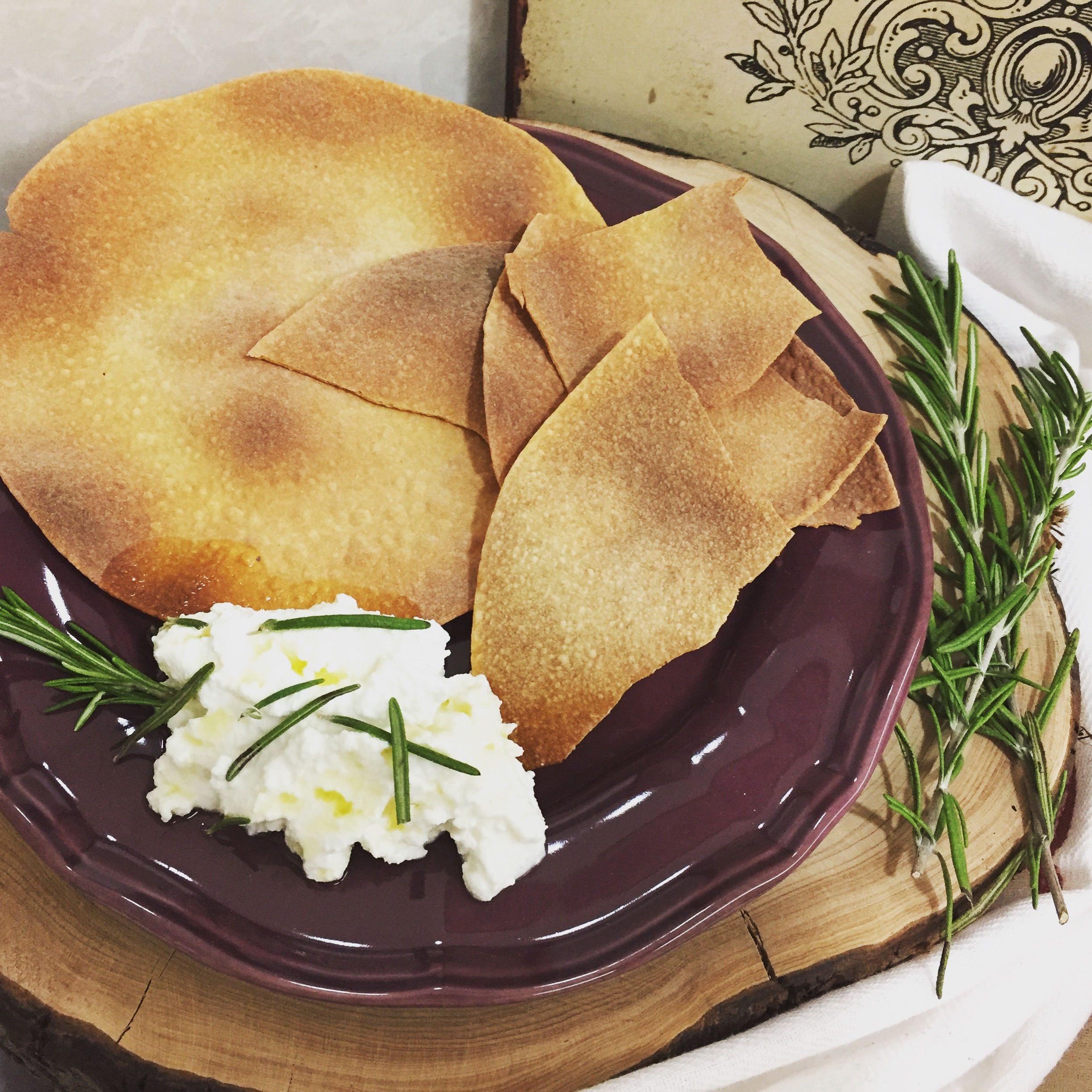 Pappadamus no forno com ricotta e alecrim - Blog da Spice