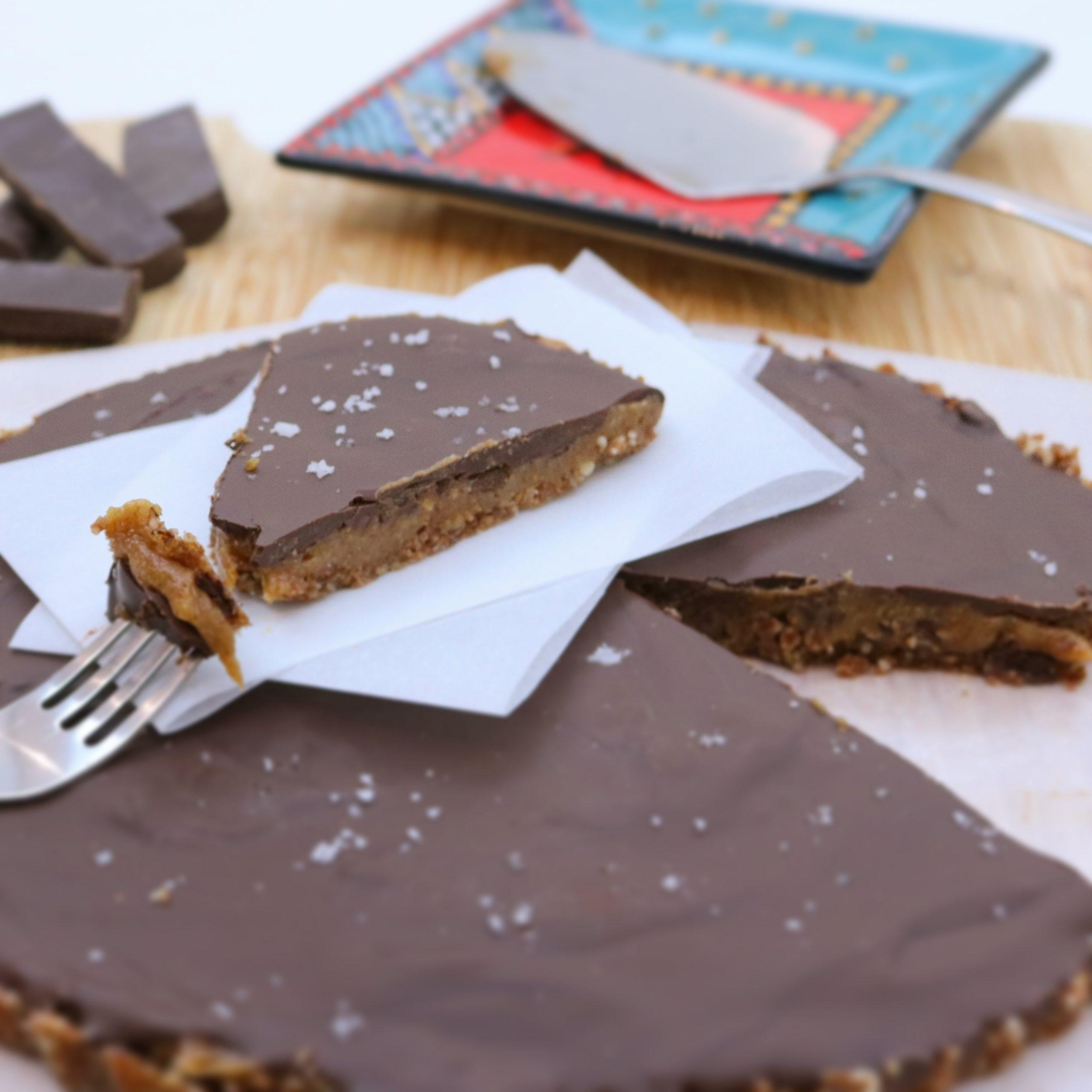 Tarte de Caramelo de Amendoim e Chocolate Preto - Blog da Spice