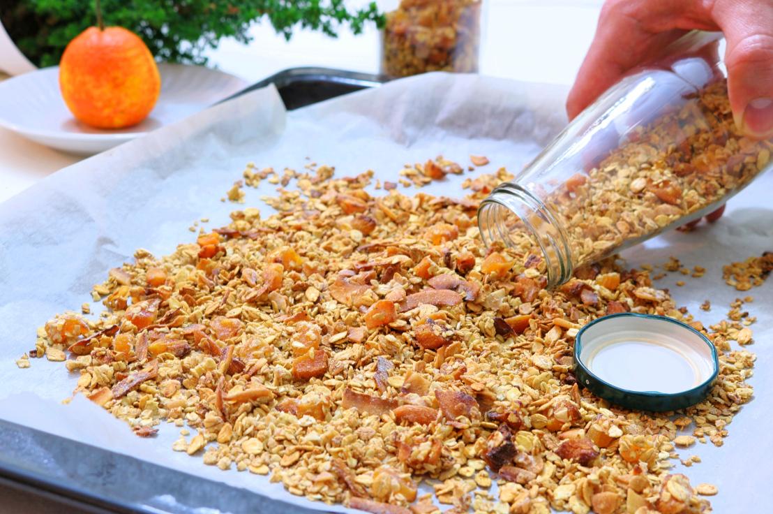 Granola de coco e tangerina - Blog da Spice