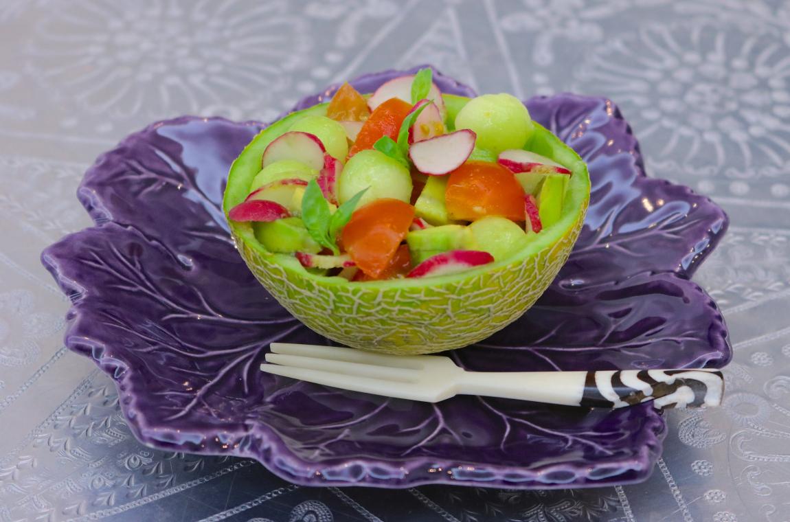 Salada fresca de meloa, abacate e tomate cherry - Blog da Spice