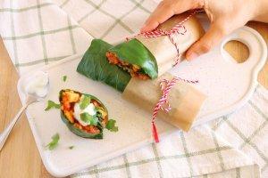 Wraps de couve com bolonhesa de lentilhas - Blog da Spice