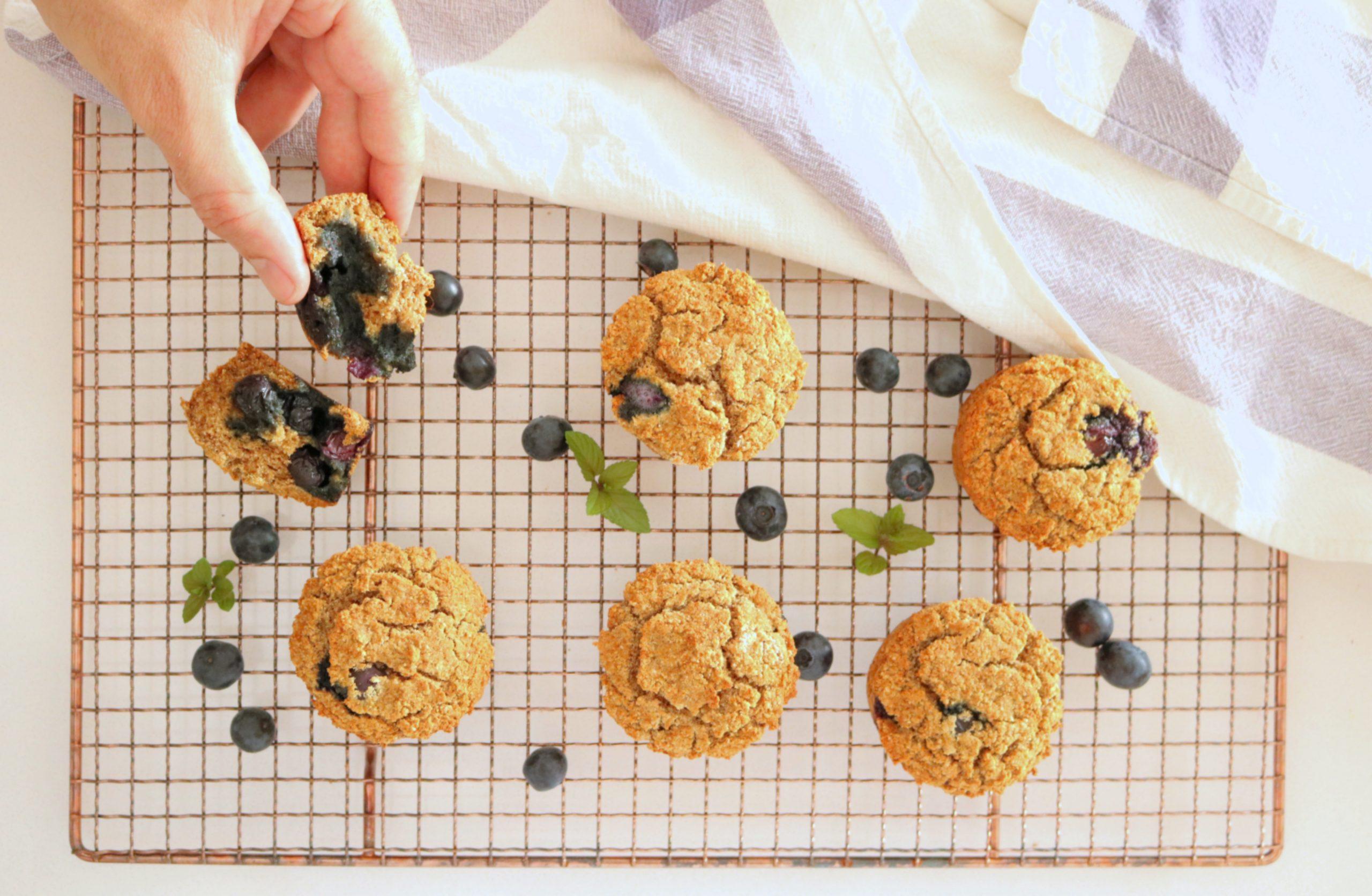 Queques de coco e mirtilos (sem glúten) - Blog da Spice