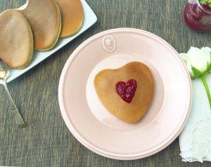 Panquecas de espelta com doce de framboesa - Blog da Spice