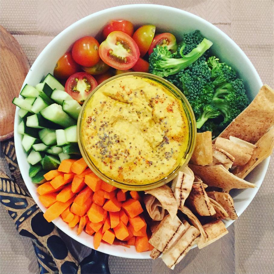 Hummus com crudités - Blog da Spice