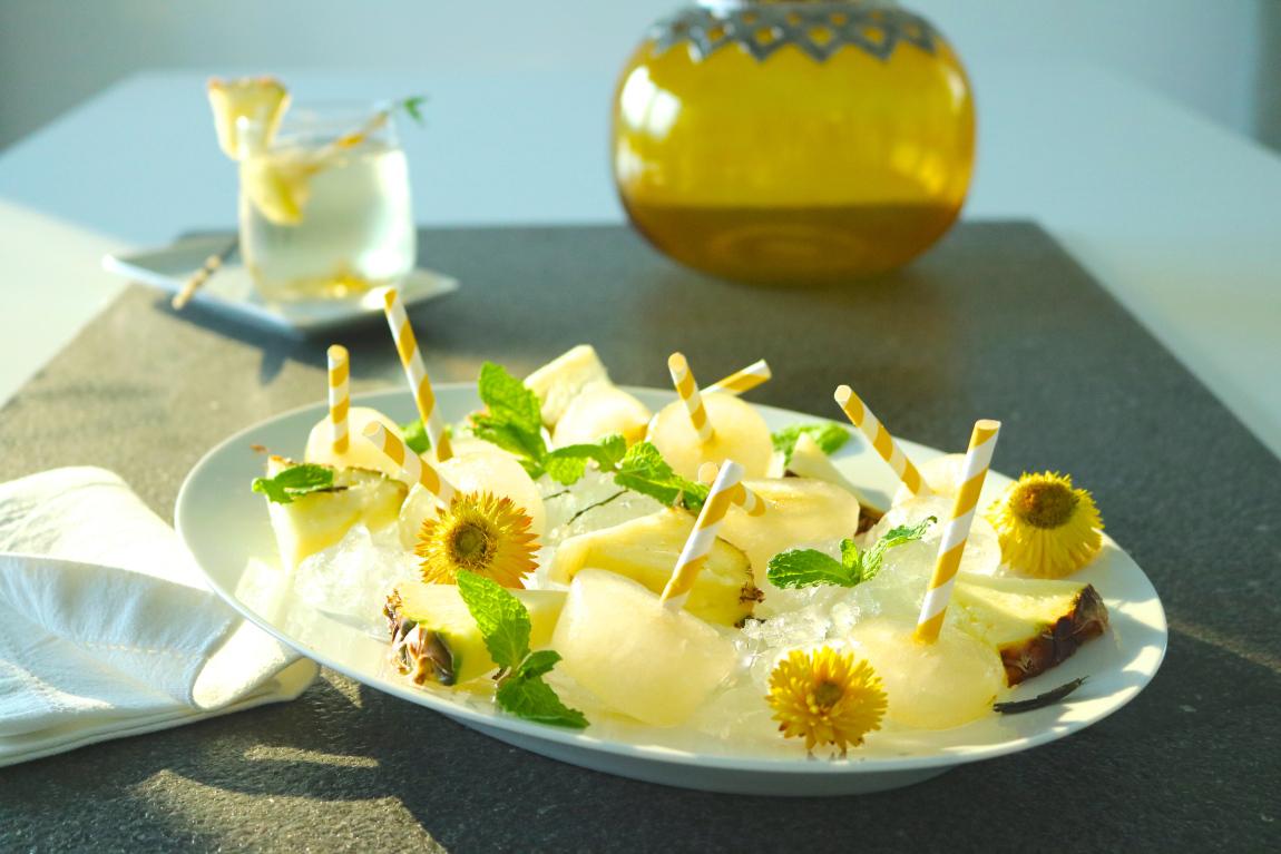 Refrescos de Ananás e Chá Verde - Natural e Sem Açúcar - Blog da Spice