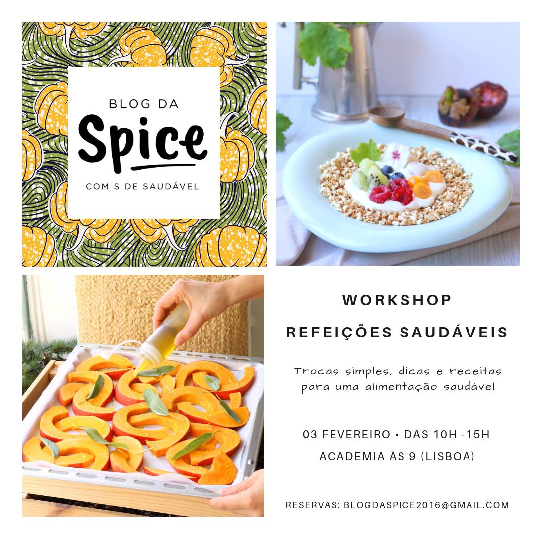 Workshop Refeições Saudáveis - Blog da Spice