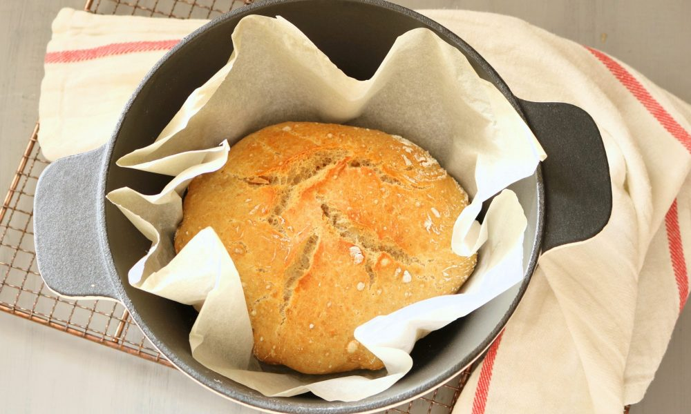 Pão caseiro sem amassar